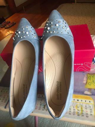 Dr.Kong女裝銀藍色高跟鞋 size 39