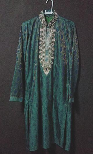 Baju Kurta Turquoise Men