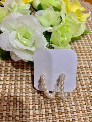 🚚 韓系圓形珍珠耳環