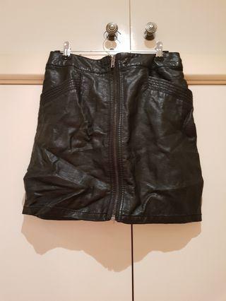 H&M Faux Leather Black Bodycon Skirt Size XS/6