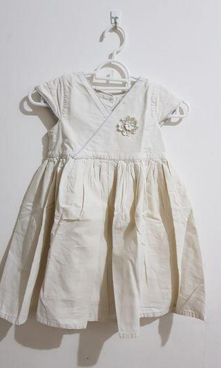 White Cheongsham Dress