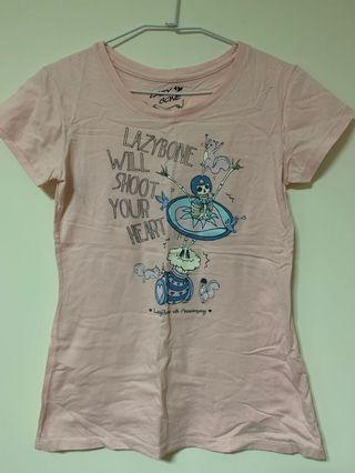 🚚 Lazybone粉色上衣