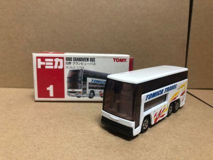 Tomy tomica 1/154 Hino grandview bus # 1
