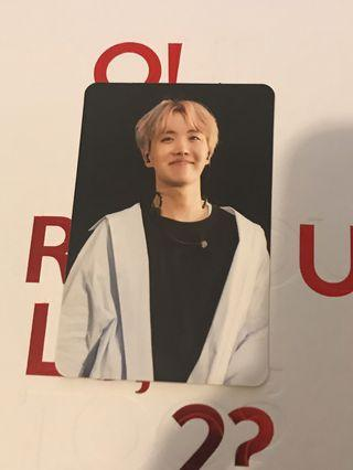 BTS Wings Tour DVD JHope Photocard