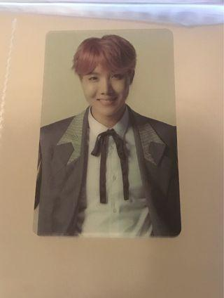 BTS Wings Tour Army Booth JHope Photocard