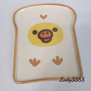 🚚 懶熊小雞吐司盤土司麵包盤 W157