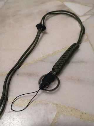 Paracord Lanyard Military Style Olive Drab 60cm