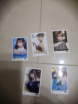 Signed Twice Momo photocards