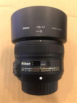 Nikon 50mm F1.8 AFS G