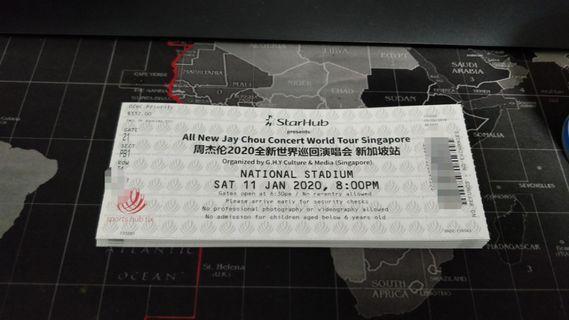 PB1 {physical tickets} jay chou 2020 concert tickets 11 Jan Saturday CAT 2
