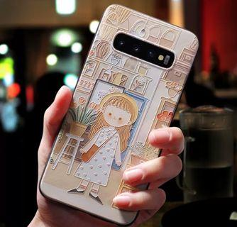 🚚 三星 S10+ 手機殼 Samsung 立體浮雕 保護殼