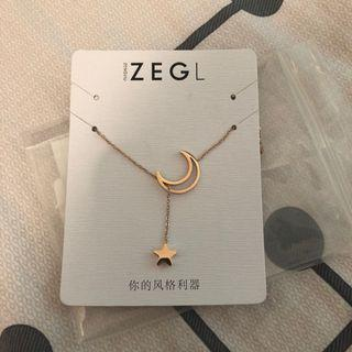ZEGL星月頸鏈necklace #junesalefashion