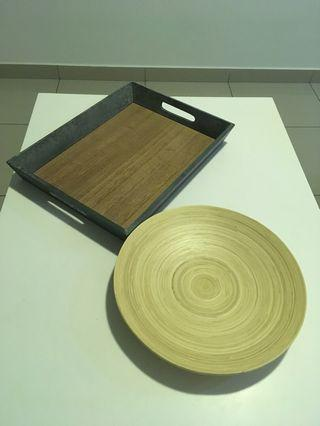 Wooden Tray & Dish