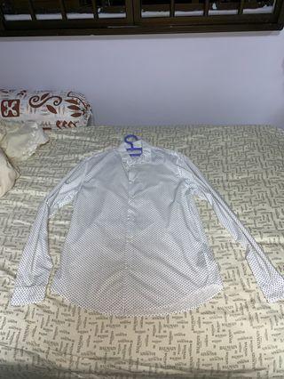 Ikks mens button shirt (pokka dot)