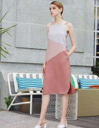 Like new! INTQ label Cody colourblock midi in pink #JUNEHOLIDAY30