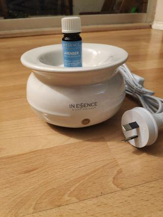 In essence electric oil burner with lavender oil 9ml