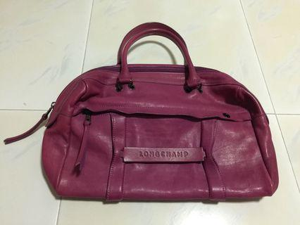 Longchamp Hand Carry Leather Bag (Authentic)