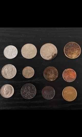 ALL FOR $4 Coins from around the world
