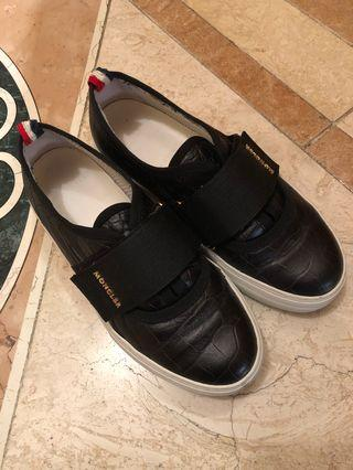 Moncler Embossed Leather Sneakers Size 36