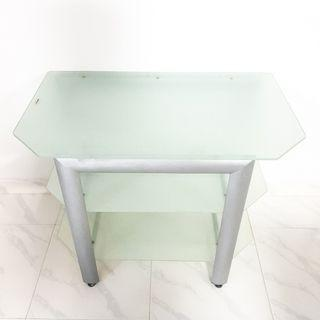 3-Tier Tempered Glass Table TV Console