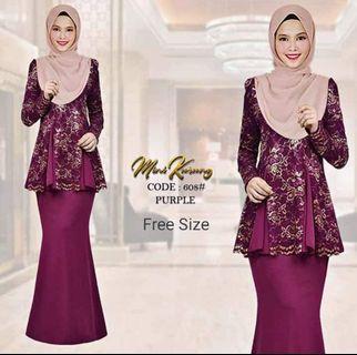 Baju kurung modern moden lace kebarung kebaya