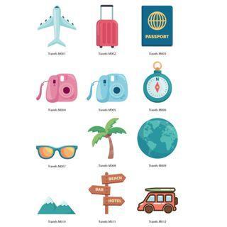 Mini Stickers - Travels
