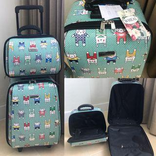 Craftholic 🐰 design cabin luggage bag ( 2 pieces )