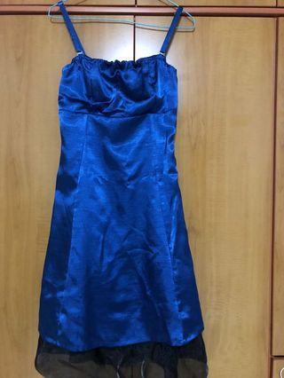 Blue Spaghetti Strap Dress