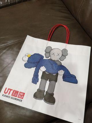 Uniqlo KAWs...paper bag