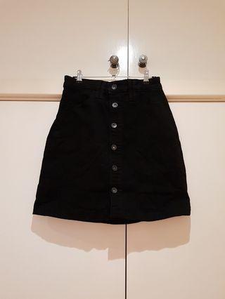 Country Road Black Denim Skirt Size S/8