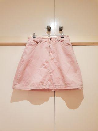 SABA Baby Pink Denim Skirt Size S/8