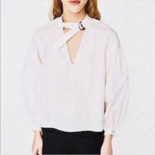 Zara white chocker top