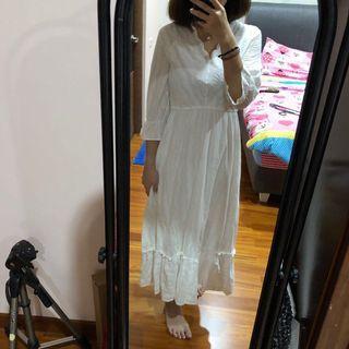 Yuju Label Hana Dress White Terusan Maxi #mauthr