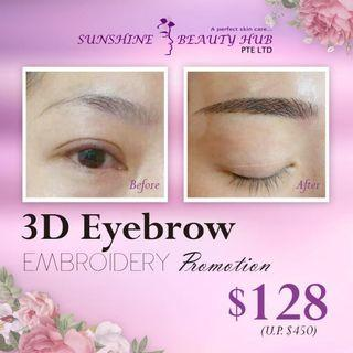 🌟3D Eyebrow Embroidery Promotion $128🌟💯