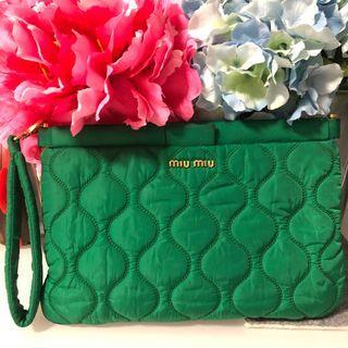 🚚 Miu Miu Nylon Green clutch