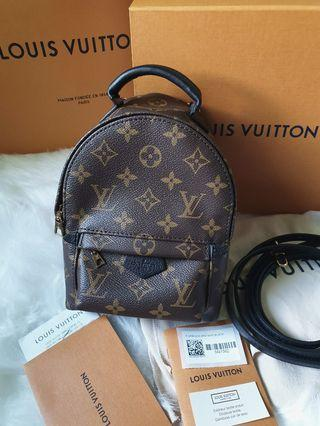 (SOLD)  Louis Vuitton palm springs mini backpack (sold)