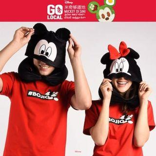 BN Disney Mickey/Minnie Hoodie Travel Pillow (Adult)