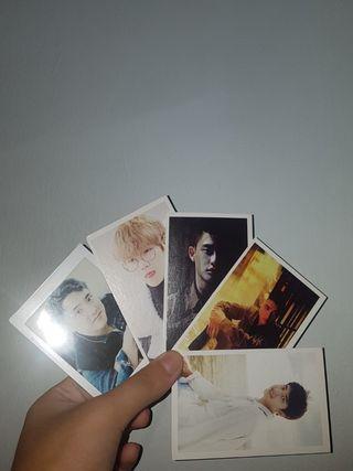 exo lomo cards + d.o polaroid