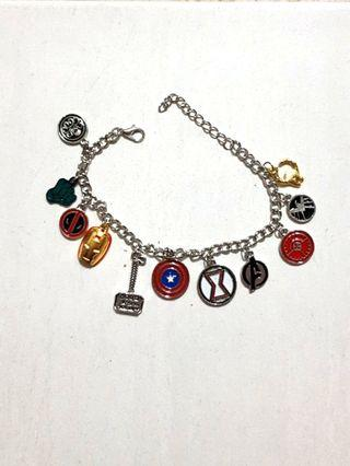 Marvel The Avengers Superhero Captain America Iron Man Deadpool Thor Wonder Woman Charm Bracelet