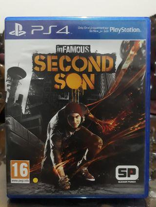 Bluray Disc/BD kaset PS4 Infamous Second Son