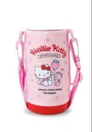 Hello Kitty water bottle holder with stripe