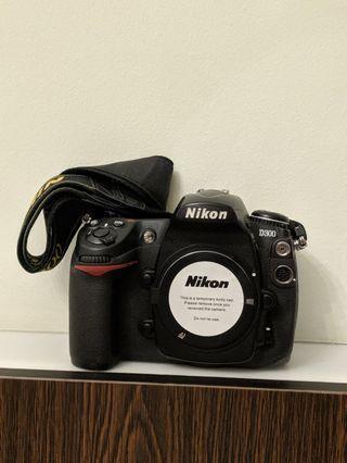 Nikon D300 body and neck strap