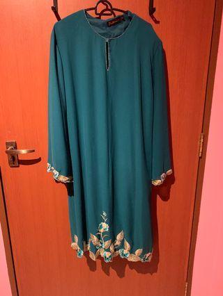 🚚 Emerald Green Baju  Kurung XL UK14 UK16