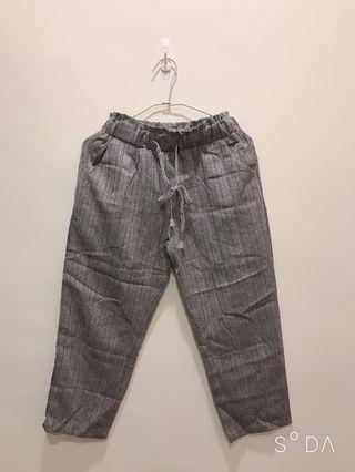 極新 灰色顯瘦老爺褲