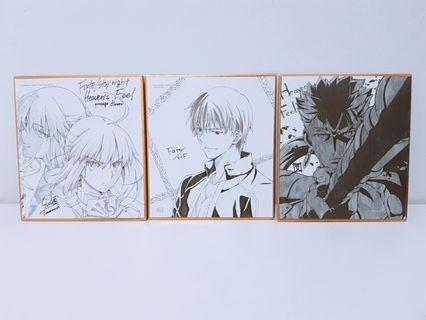 Mini Shikishi Fate/Stay Night