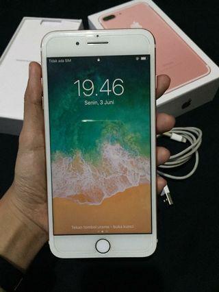 iPhone 7 plus 32gb ROSE GOLD bekas international garansi