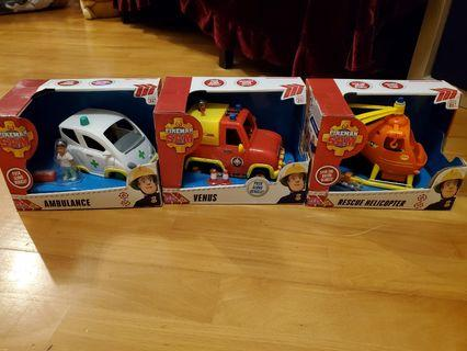 全新Fireman Sam Ambulance/Venus/Resue Helicopter