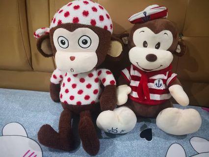 #MidValley Cute Monkey Soft toys 2pcs