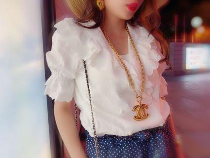 Chanel vintage necklace big cc gold belt