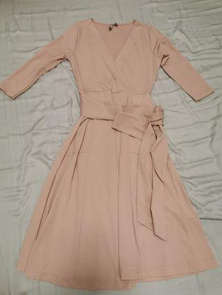 ASOS pink Wrap Dress